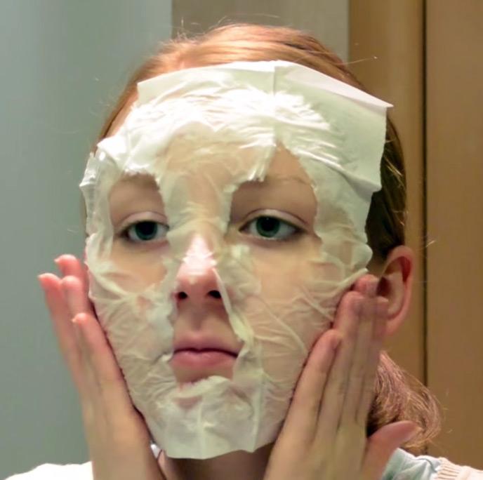 оформлении белковая маска с салфеткой фото кораллового замка