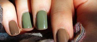 ногти в два цвета фото 1