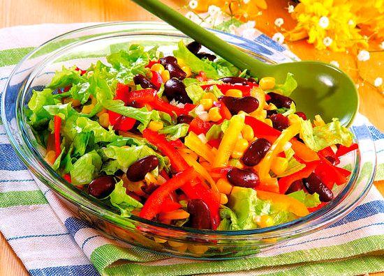 Салаты диетические с овощами