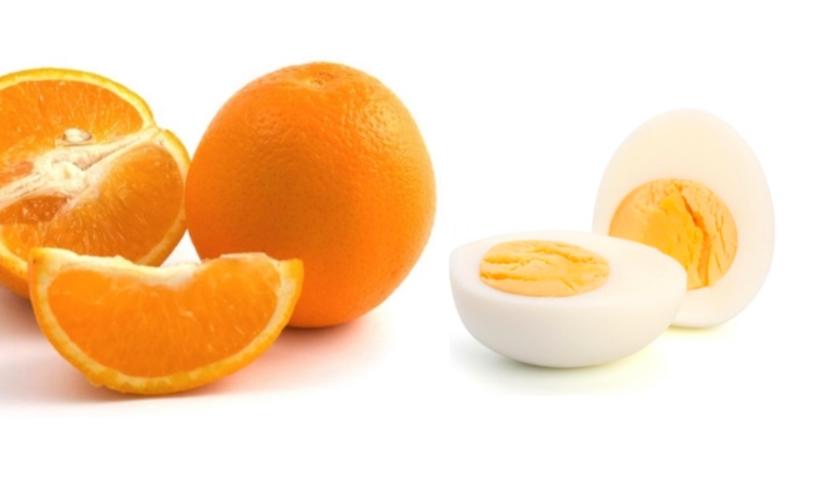 Яйца и цитрусовые на завтрак